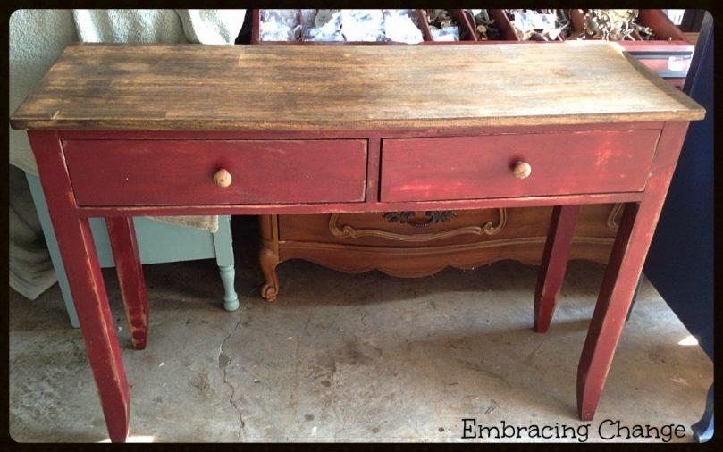 Rustic Sofa Table | Ciov Pertaining To Red Sofa Tables (Image 15 of 20)