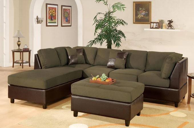 Sage Green Microfiber Sectional Sofa F7620 Lowest Price – Sofa Within Green Microfiber Sofas (View 5 of 20)