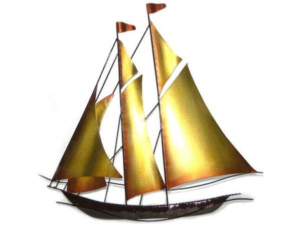 Sailboat Metal Wall Art – Metal Wall Decor – Fzdongsen Regarding Sailboat Metal Wall Art (Image 10 of 20)