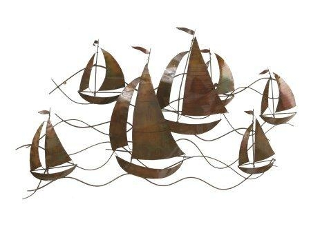 Sailing Boats Metal Wall Art – Luxury Home Furnisher Throughout Boat Wall Art (View 2 of 20)
