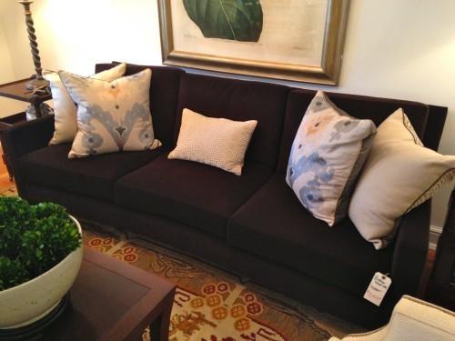 """Sale! Velvet """"Baker"""" Sofa – Ls Home With Brown Velvet Sofas (View 19 of 20)"""