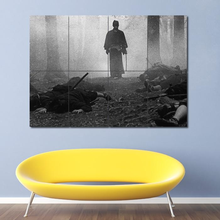 Samurai Grayscale Block Giant Wall Art Poster For Samurai Wall Art (Image 13 of 20)