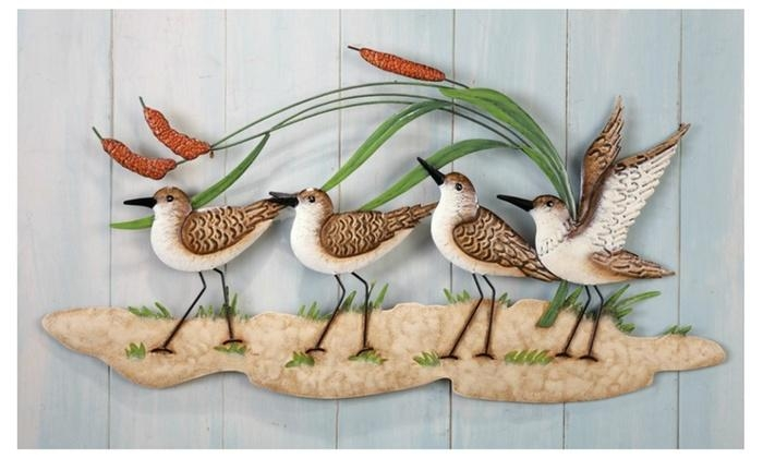 Sandpiper Beach Theme Metal Wall Art | Groupon For Groupon Wall Art (Image 19 of 20)