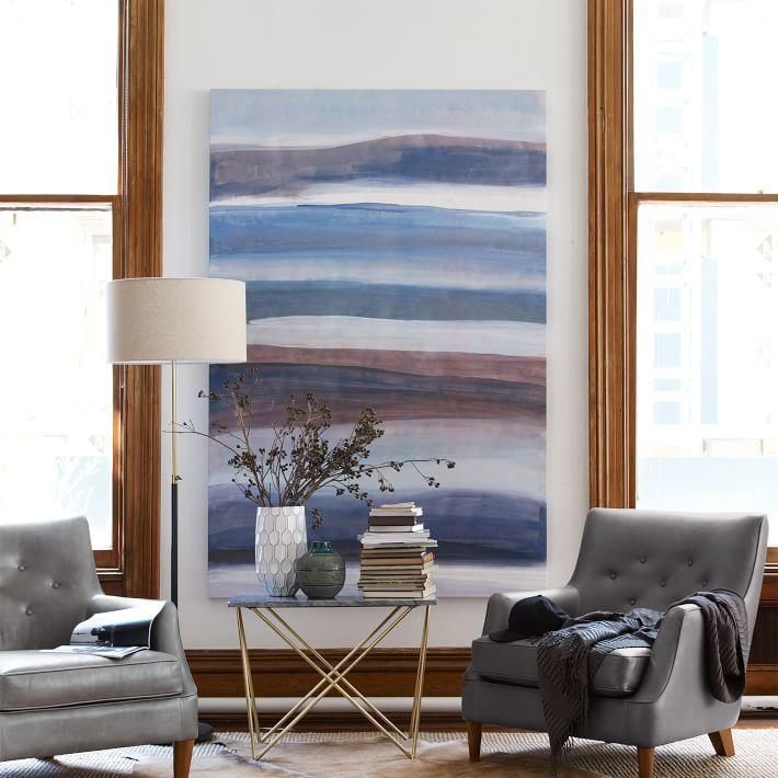 Sarah Campbell Wall Art – Oversized Abstract Waves | West Elm With Regard To Oversized Wall Art (Image 18 of 20)