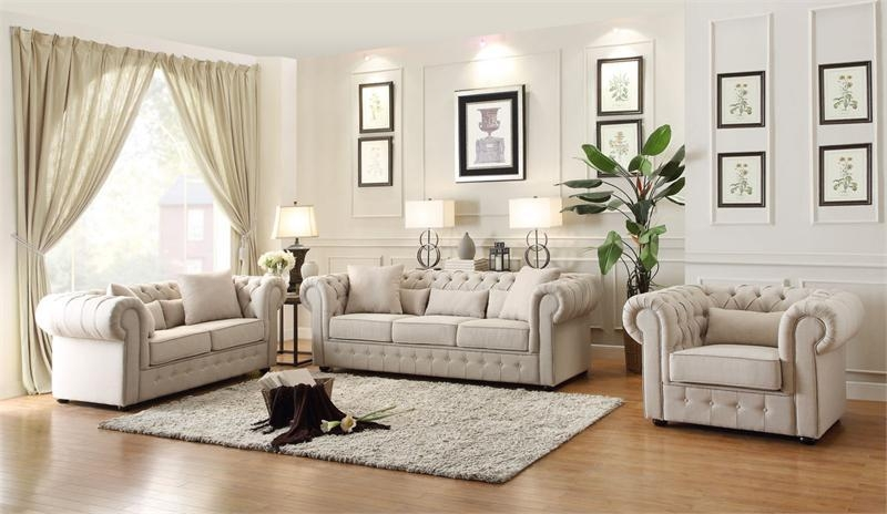 Savonburg Sofa Set Collection Throughout Homelegance Sofas (Image 14 of 20)
