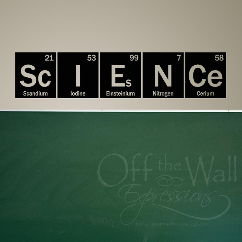 Science Wall Decal Periodic Table Elements Vinyl Wall Art Pertaining To Elements Wall Art (View 8 of 20)