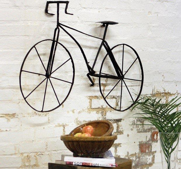 Scrap Metal Bicycle Wall Art Sculpture | Antique Farmhouse Within Metal Bicycle Wall Art (View 2 of 20)