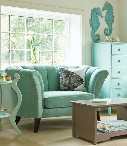 Seafoam Green Bedroom Ideas In Seafoam Green Sofas (Image 12 of 20)