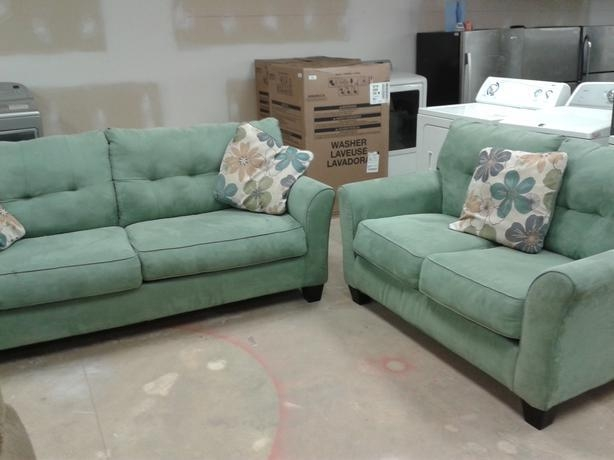 Seafoam Green Sofa + Loveseat – 6113566 Victoria City, Victoria Within Seafoam Green Couches (Image 15 of 20)