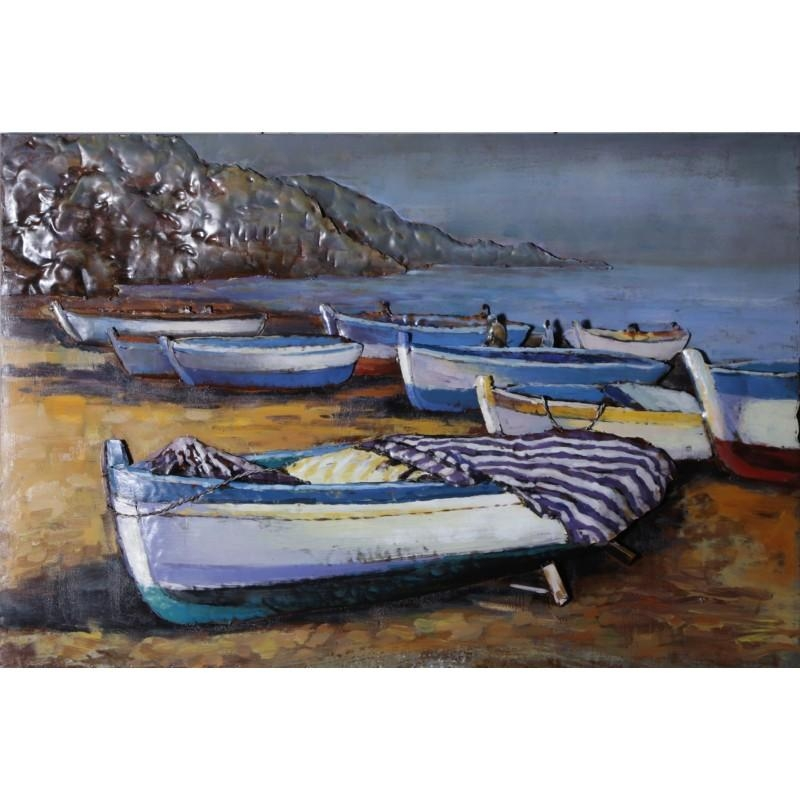 Seaside Boats 3D Metal Wall Art – Blackbrook Interiors With Regard To Seaside Metal Wall Art (View 4 of 20)