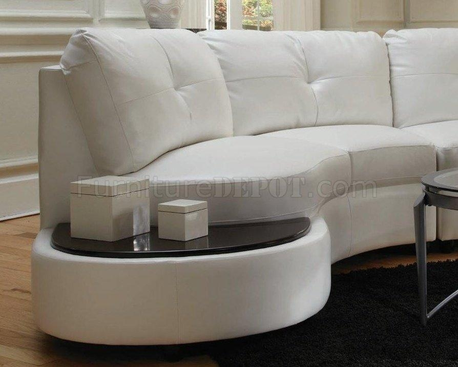 Sectional Sofa 503431 White Bonded Leather Match – Coaster Throughout Coaster Sectional Sofas (Image 15 of 20)