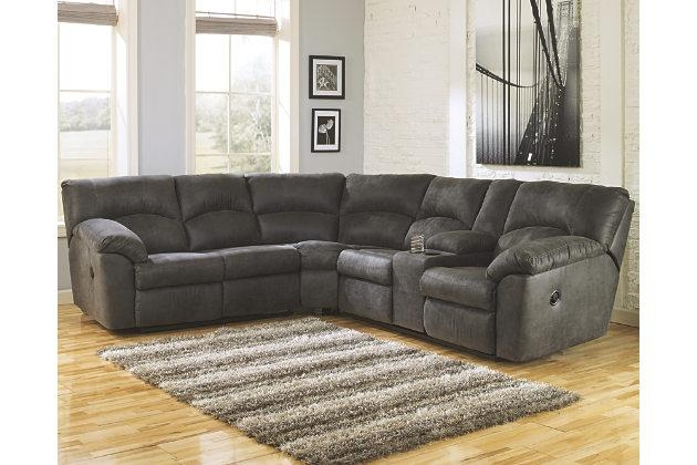 Sectional Sofas Ashley Furniture | Roselawnlutheran Within Ashley Furniture Leather Sectional Sofas (Image 15 of 20)