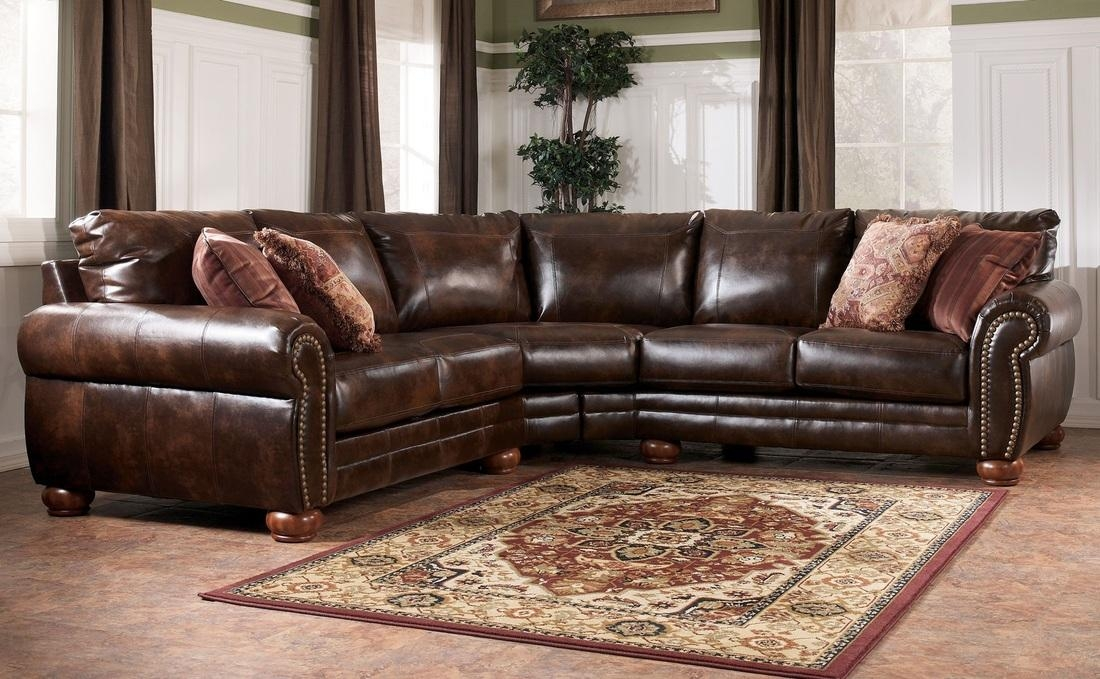 Sectionals Pertaining To Ashley Faux Leather Sectional Sofas (Image 10 of 20)