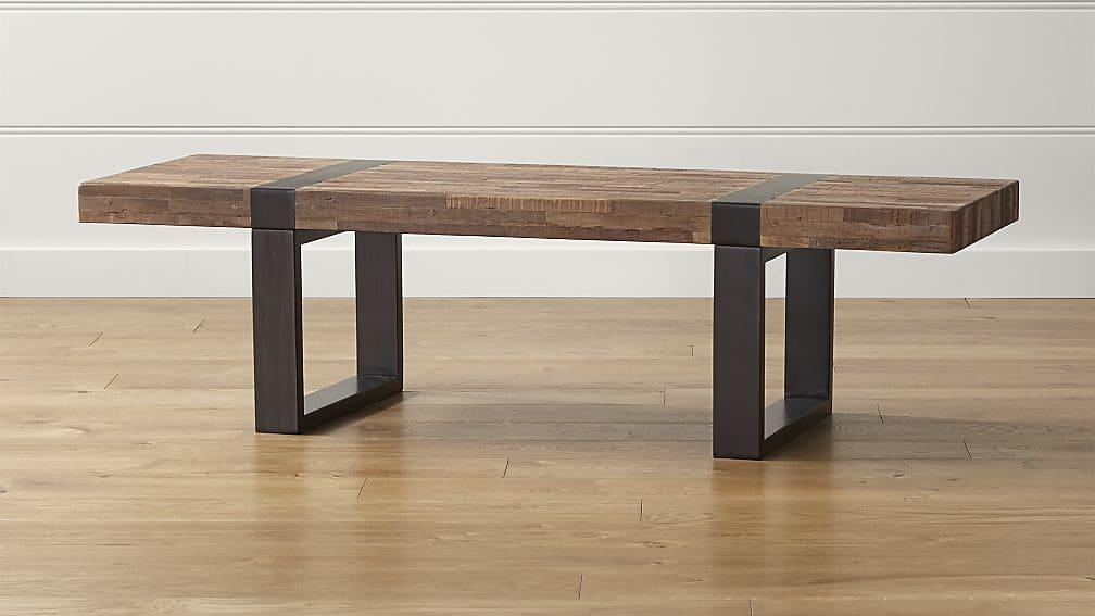 Seguro Rectangular Coffee Table | Crate And Barrel Pertaining To Crate And Barrel Sofa Tables (Image 17 of 20)