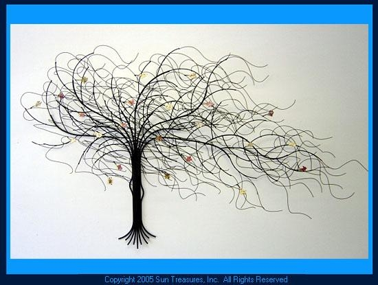 September Tree | Metal Wall Art Sculpture | Gurtan Designs In Metal Tree Wall Art Sculpture (Image 16 of 20)