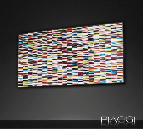 Sequence Mosaic Contemporary Glass Wall Art Panel Pertaining To Glass Wall Art Panels (Image 19 of 20)