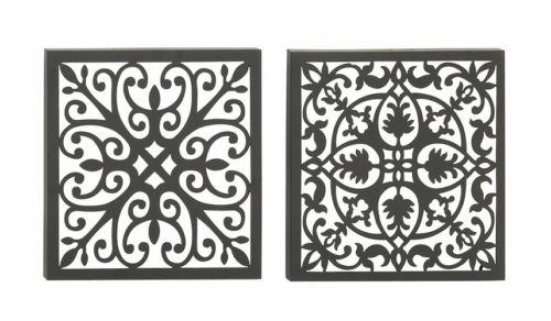 Set Of 2 Moroccan Style Brown Metal Wall Art Sculpture Indian Home Inside Moroccan Metal Wall Art (Image 15 of 20)