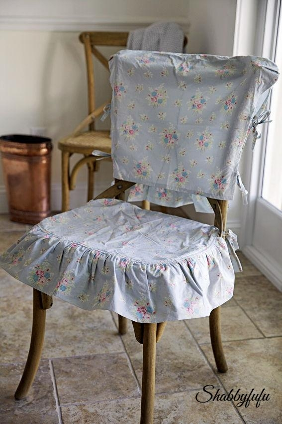 Shabby Chic Chair Covers | Chair Covers – Gallery Images And Regarding Shabby Chic Sofas Covers (Image 11 of 20)