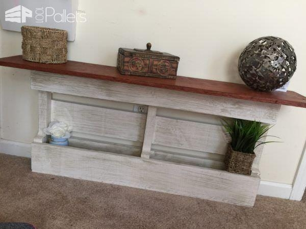 Shabby Chic Pallet Shelving Units • 1001 Pallets Throughout Shabby Chic Sofa Tables (View 19 of 20)
