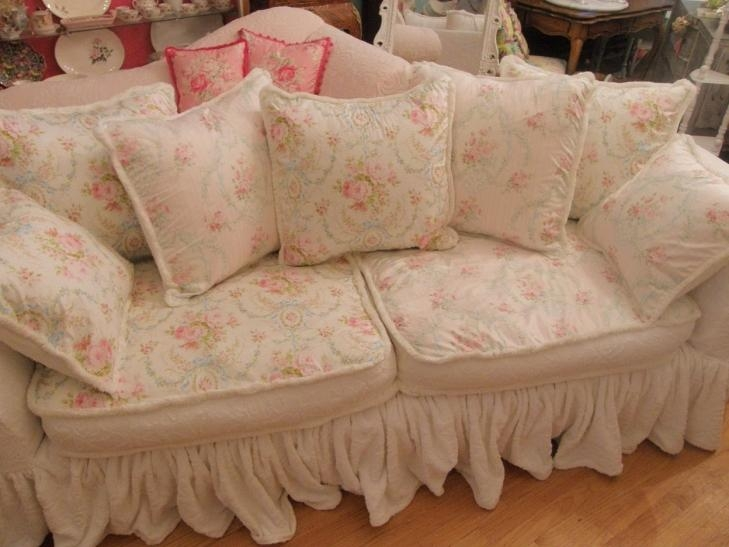 Shabby Chic Slipcovers For Loveseats (Image 11 of 20)