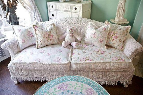 Shabby Chic Slipcovers | Home Design Styles Intended For Shabby Chic Sofa Slipcovers (Image 8 of 20)