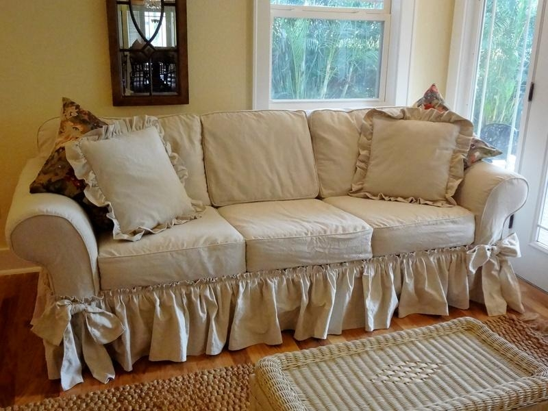 Shabby Chic Slipcovers | Home Design Styles Regarding Shabby Chic Sofas Covers (View 16 of 20)