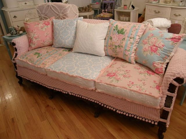 Shabby Chic Slipcovers | Houzz With Shabby Chic Sofa Slipcovers (Image 9 of 20)