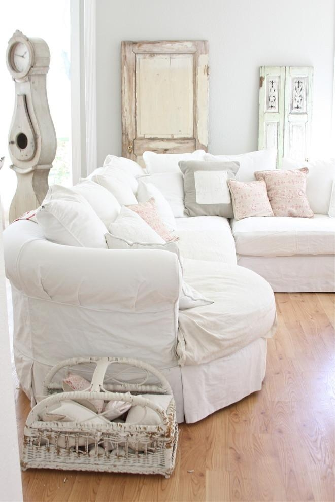 Shabby Chic Slipcovers Living Room With Chenille Fabric Cottage Regarding Shabby Chic Slipcovers (Image 15 of 20)