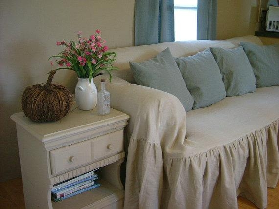 Shabby Chic Sofa Slipcover Throw With Regard To Shabby Chic Slipcovers (Image 13 of 20)