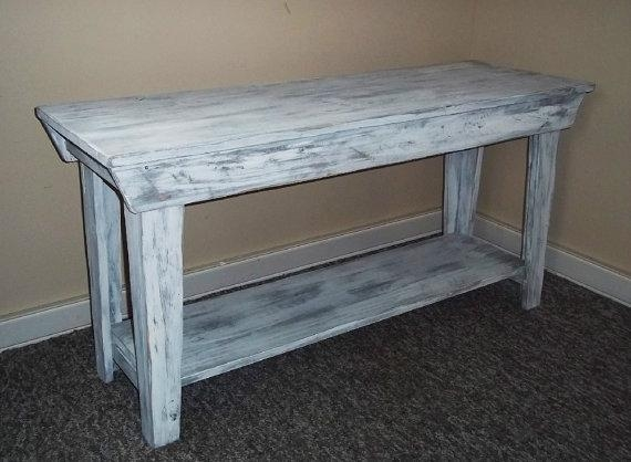Shabby Chic Sofa Table Distressed Wood Sofa Table Shabby Chic Sofa In Shabby Chic Sofa Tables (Image 14 of 20)
