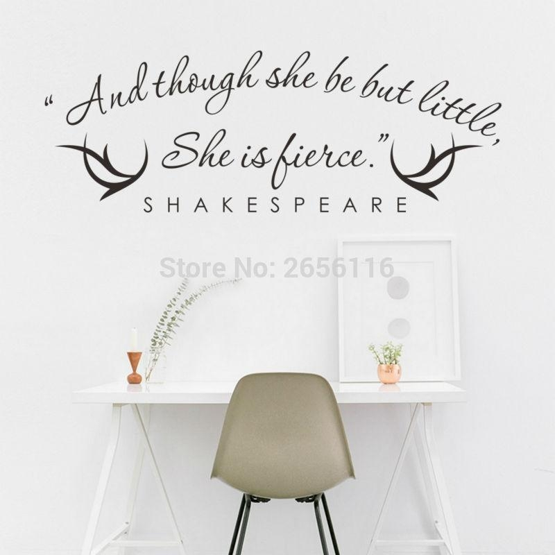 Shakespeare Quotes Wall Art Promotion Shop For Promotional Inside Shakespeare Wall Art (Image 15 of 20)