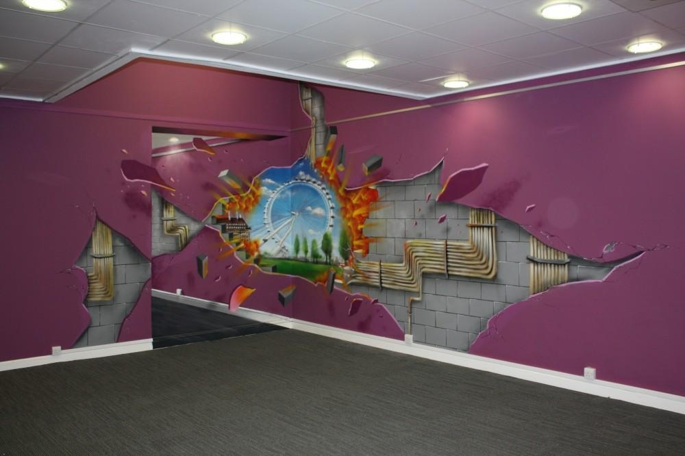 Shell 3D Illusion Wall Art – Media Gang Within Illusion Wall Art (Image 18 of 20)