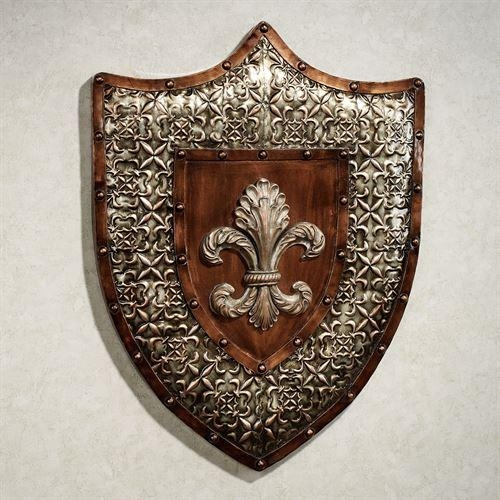 Shield Of Honor Fleur De Lis Metal Wall Art With Fleur De Lis Metal Wall Art (Image 18 of 20)