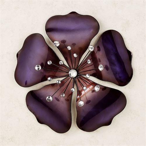 Shimmering Gem Purple Flower Metal Wall Art With Regard To Purple Flower Metal Wall Art (View 4 of 20)