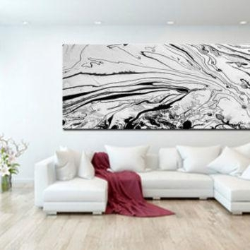 Shop Black And White Abstract Wall Art On Wanelo Regarding Large White Wall Art (Image 12 of 20)