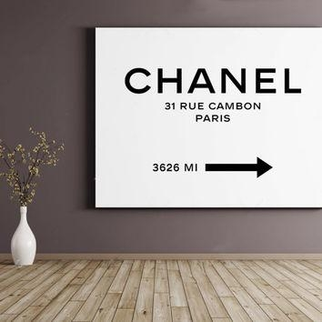 Shop Chanel Wall Art On Wanelo Inside Coco Chanel Wall Decals (Image 17 of 20)