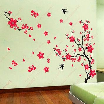 Shop Cherry Blossom Tree Wall Art On Wanelo For Red Cherry Blossom Wall Art (Image 18 of 20)