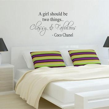 Shop Coco Chanel Wall Decal On Wanelo Pertaining To Coco Chanel Wall Decals (Image 19 of 20)