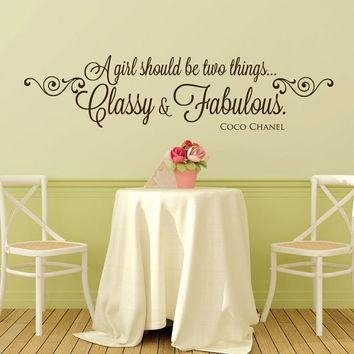 Shop Coco Chanel Wall Decal On Wanelo With Coco Chanel Wall Stickers (View 15 of 20)