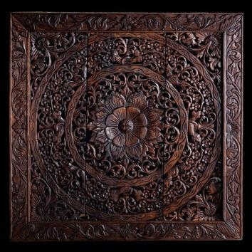 Shop Decorative Wood Panels Wall Art On Wanelo With Regard To Wood Carved Wall Art Panels (View 5 of 20)