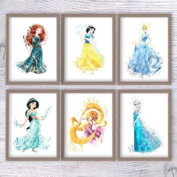 Shop Disney Princess Room Decor On Wanelo With Regard To Disney Princess Wall Art (Image 15 of 20)