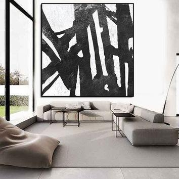 Shop Extra Large Abstract Canvas Art On Wanelo Intended For Large Black And White Wall Art (Image 17 of 20)