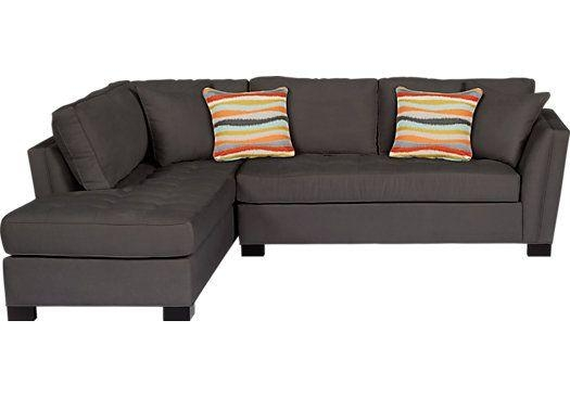 Shop For A Cindy Crawford Home Calvin Heights Slate 2 Pc Sectional Within Cindy Crawford Sleeper Sofas (View 14 of 20)