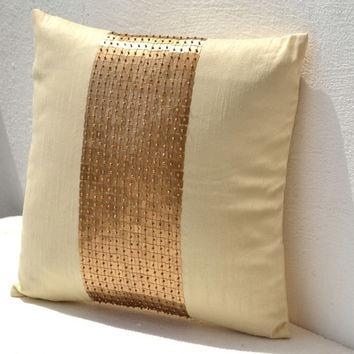 Shop Gold Sequin Decorative Pillow On Wanelo Pertaining To Gold Sofa Pillows (Image 17 of 20)