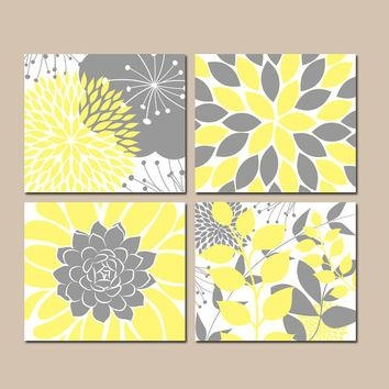 Shop Gray And Yellow Bathroom Wall Art On Wanelo Intended For Gray And Yellow Wall Art (Image 13 of 20)