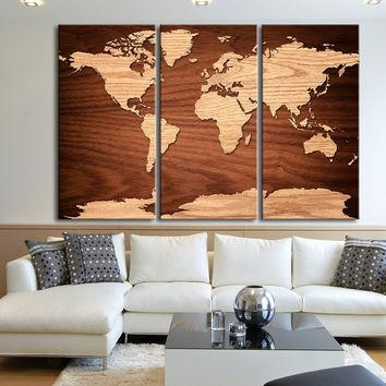 Shop Large Wood Wall Art On Wanelo Throughout Natural Wood Wall Art (Image 15 of 20)