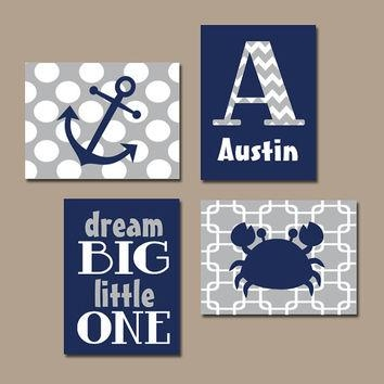 Shop Monogram Wall Canvas On Wanelo Throughout Nautical Canvas Wall Art (View 7 of 20)