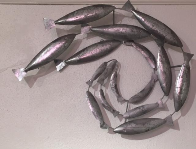 Shop Online – Wall Art With Shoal Of Fish Metal Wall Art (Image 16 of 20)