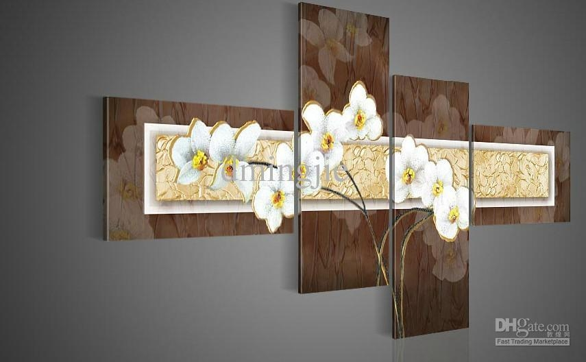 Shop Paintings Online, Hand Painted Wall Art Thick Brown White Regarding Brown Framed Wall Art (View 3 of 20)