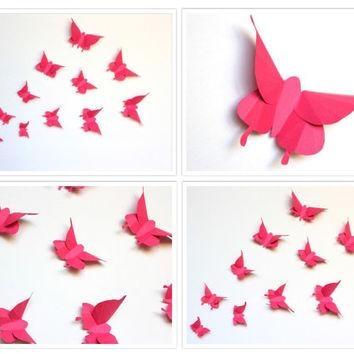 Shop Paper Butterfly Wall Art On Wanelo Inside Pink Butterfly Wall Art (Image 18 of 20)